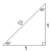 45-45-90 special right triangle