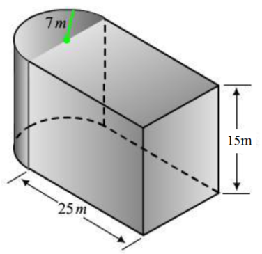 Surface area and volume of half cylinders