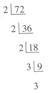 continuous division of 72