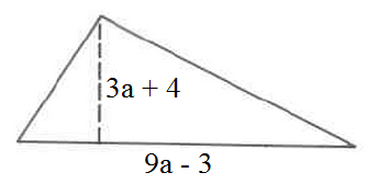 Find area of triangles using polynomials given
