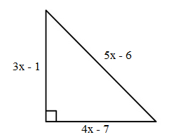 Applications of polynomials. Find the area of triangles