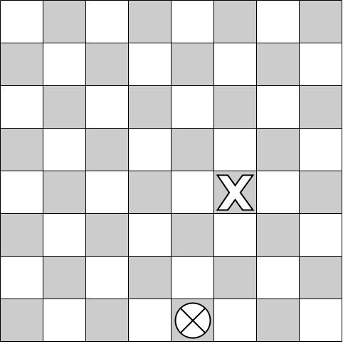 How many paths a checker can move to the designated place on a checkerboard