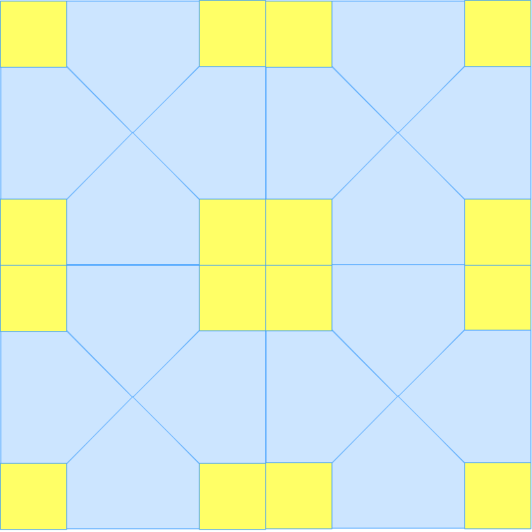 Tessellations using translations, rotations and reflections