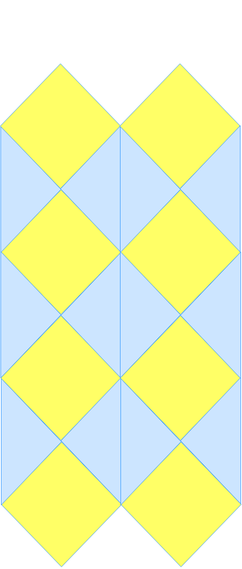 Tessellations using translations and reflections