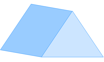 draw the net of a triangular prism