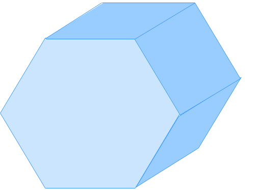 Nets of hexagonal prism