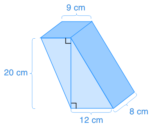 Volume of trapezoidal prisms