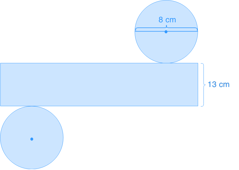 net of a cylinder and its volume