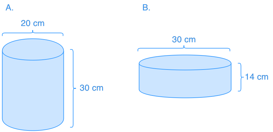 Comparing the volume of cylinders