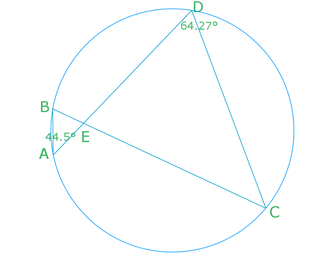 use angles in a circle to find other angles