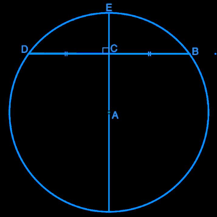 using chord properties to determine diameter