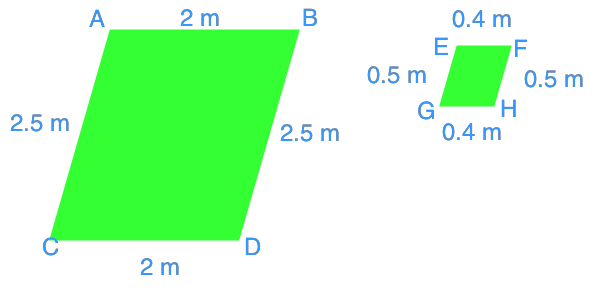 Similar polygons with the same ratio to their corresponding sides