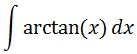 Antiderivative of arctan pt. 1