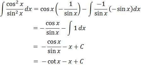 Antiderivative of cot^2 pt. 5