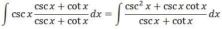 Antiderivative of cscx pt. 2