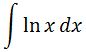 Antiderivative of lnx pt. 1