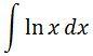 Antiderivative of lnx pt. 1