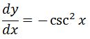 Backtrack Antiderivative of csc^2 pt. 2