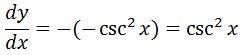 Backtrack Antiderivative of csc^2 pt. 4