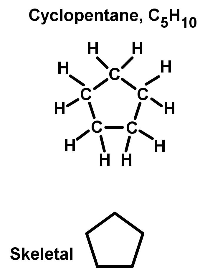 Cyclopentane, C5H10