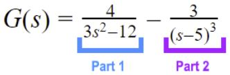 Dividing the function in parts to solve each part separately