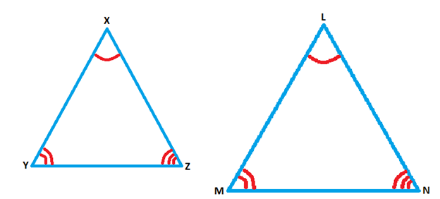 Determining congruence by examining the angles in the triangle