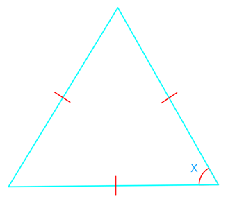 equilateral triangles and angles inside the triangles