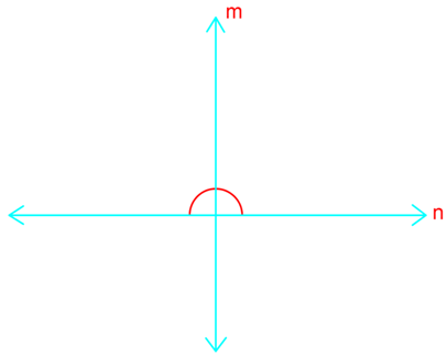 Proving perpendicular line with right angles