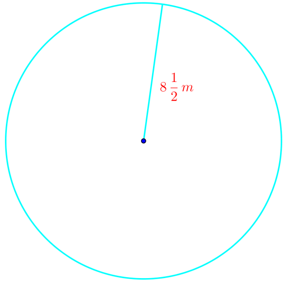 what is the circumference of the circle given the radius