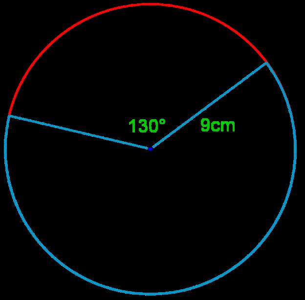 Finding arcs of a circle given radius and angle