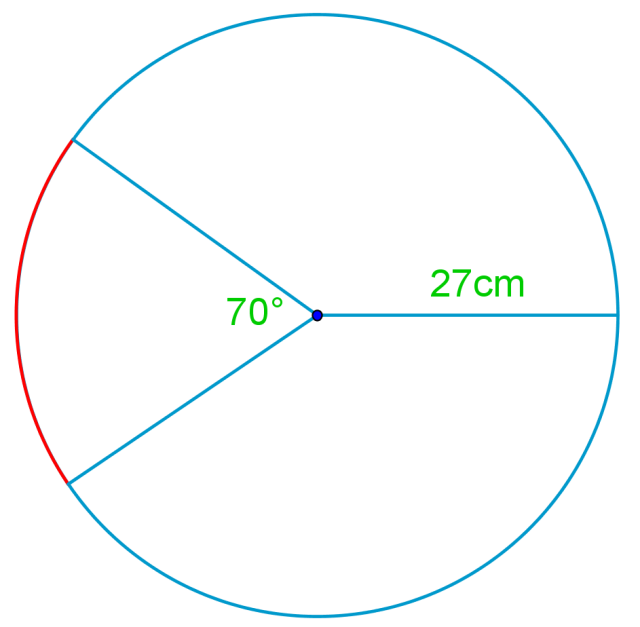 Relationship among arcs of a circle, angle, and radius