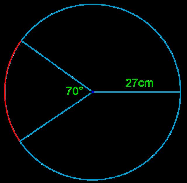 Relationship among arcs of a circle, angle, and radius