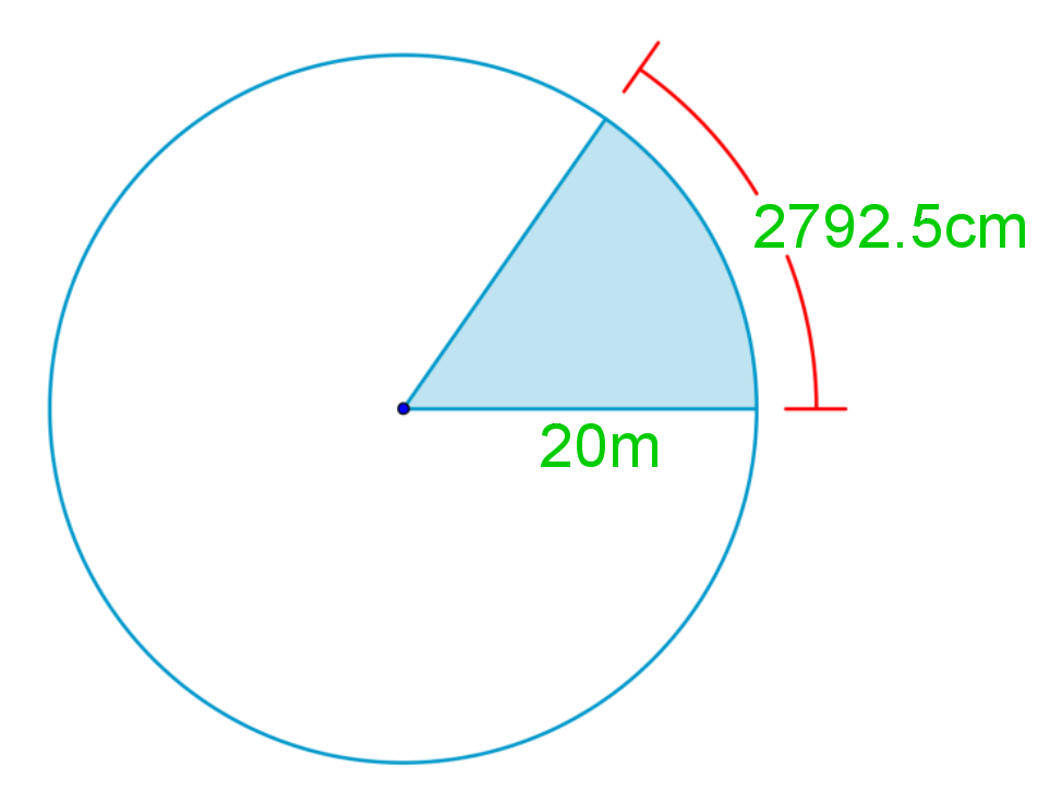 Calculate the area of sectors of circles given arc length and radius