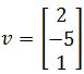 Calculating vectors in R^n, vector 2