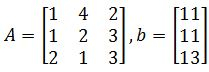 solve Ax=b