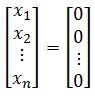 solution to a set of linearly independent vectors
