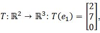 standard matrix of T, T(e1)