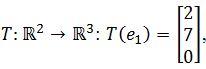 standard matrix of T, T(e1)