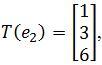 standard matrix of T, T(e2)