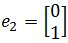 standard matrix of T, e2= [0 1]