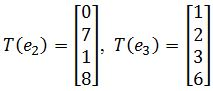 standard matrix of T, T(e2), T(e3)
