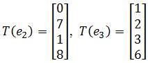 standard matrix of T, T(e2), T(e3)