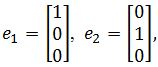 standard matrix of T, e1= [1 0 0], e2= [0 1 0]