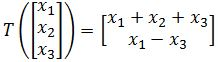 Finding the Matrix Algebraically and show linear transformation