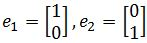 Standard basis, unit vectors in r^2