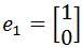 r^2 standard basis e1