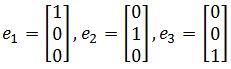 unit vectors of standard basic e_1, e_2, e_3