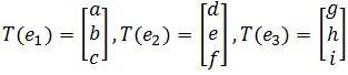 transformed vectors e_1, e_2, e_3