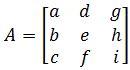Standard matrix e_1, e_2, e_3