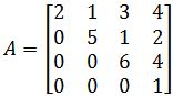 determine whether the matrix is invertible